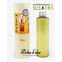 Recambio Mikado, CEDRE, Boles d`olor+ varitas de Rattan