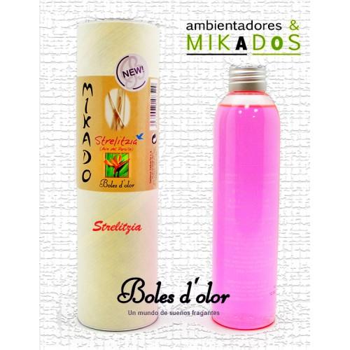 Recambio Mikado, STRELITZIA, Boles d`olor+ varitas de Rattan
