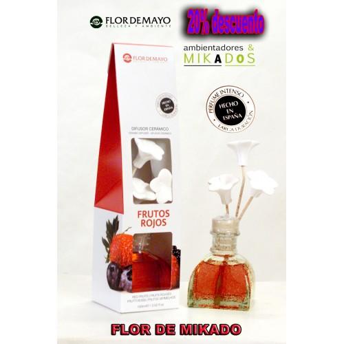 Ambientador FLOR DE MIKADO, FRUTOS ROJOS, Flor de Mayo