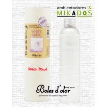 Recambio Mikado, WHITE MUSK , Boles d`olor+ varitas de Rattan