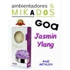 FLOR DE MIKADO GOA , JASMIN YLANG , BASE METALICA