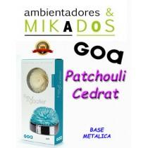 FLOR DE MIKADO GOA , PATCHOULI CEDRAT, BASE METALICA