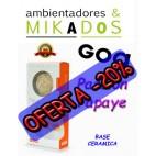 FLOR DE MIKADO GOA , PASSION PAPAYE , BASE CERAMICA